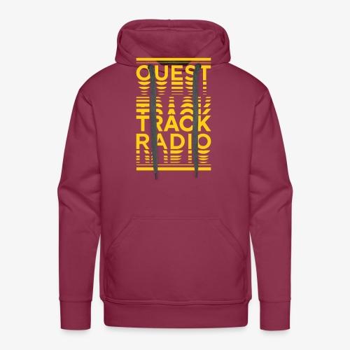 Logo Vertical Grand Jaune - Sweat-shirt à capuche Premium pour hommes