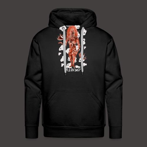 vierge Négutif - Sweat-shirt à capuche Premium pour hommes