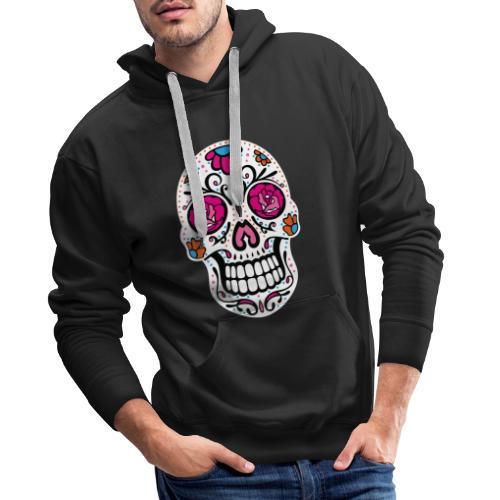 Sugar Skull Day Of The Dead Totenschädel - Männer Premium Hoodie