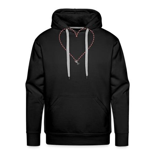 Coeur à découper - Sweat-shirt à capuche Premium pour hommes