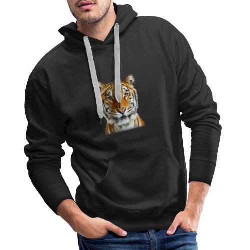 tiger wild animal - Bluza męska Premium z kapturem