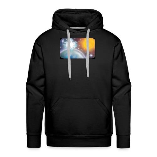 C JHS Espace Cadre noir - Sweat-shirt à capuche Premium pour hommes