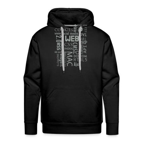 T shirt web - Sweat-shirt à capuche Premium pour hommes