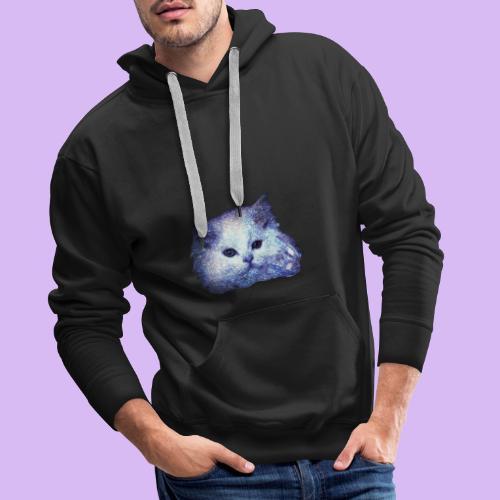 Gatto glitter - Felpa con cappuccio premium da uomo
