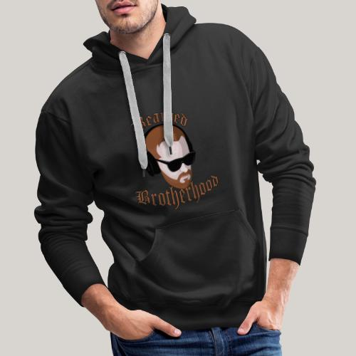 The Bearded Brotherhood w/ Text - Men's Premium Hoodie