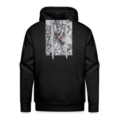 walentynkowe serce - Bluza męska Premium z kapturem