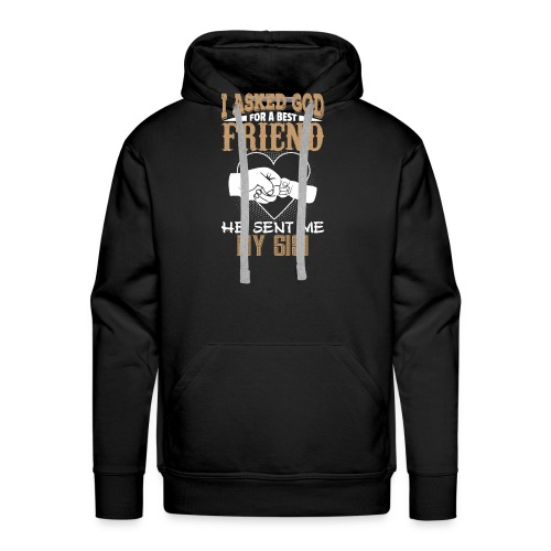 I Asked God for a Best Friend He Sent Me My Gigi - Men's Premium Hoodie