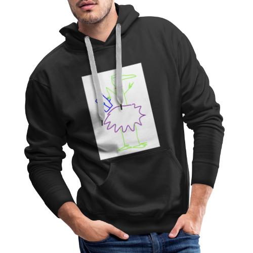 Lady with suitcase - Männer Premium Hoodie