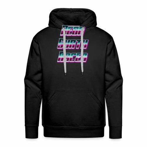 Neon Synth Racer v2 - Sweat-shirt à capuche Premium pour hommes