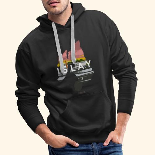 Islay Dusk Whisky T-Shirt Design - Männer Premium Hoodie