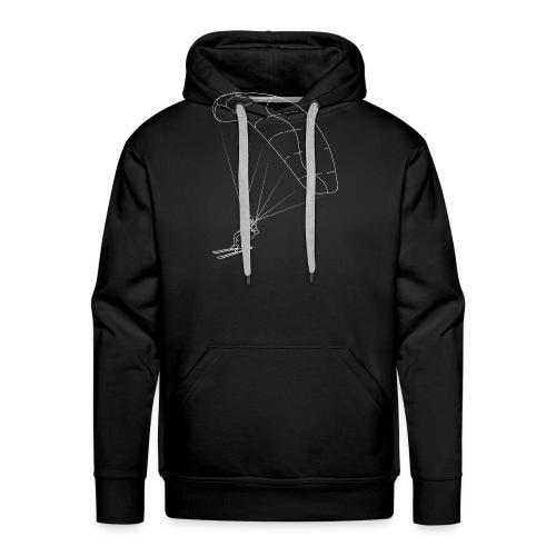 Speedriding Speedflying fine line sketch - Männer Premium Hoodie