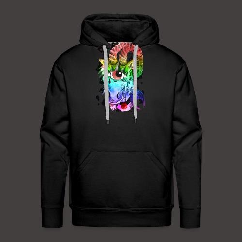 capricorne multi-color - Sweat-shirt à capuche Premium pour hommes