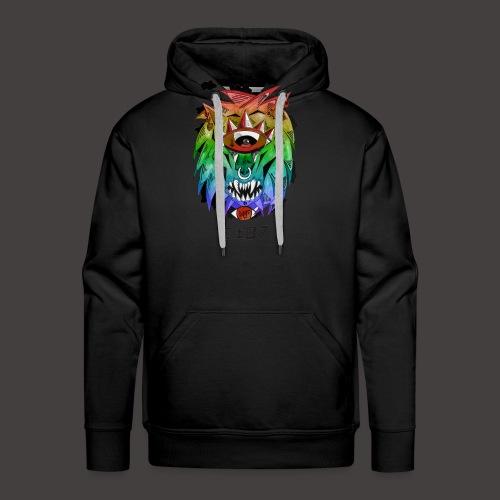 lion multi-color - Sweat-shirt à capuche Premium pour hommes