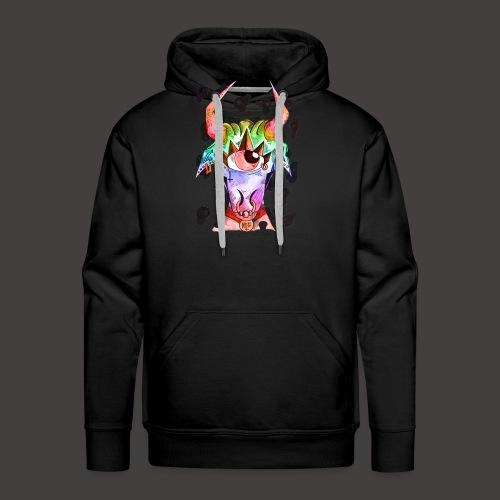 Taureau multi-color - Sweat-shirt à capuche Premium pour hommes