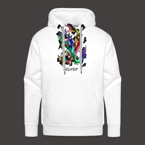 Poisson multi-color - Sweat-shirt à capuche Premium pour hommes