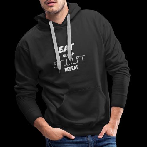 eat sleep B - Sweat-shirt à capuche Premium pour hommes