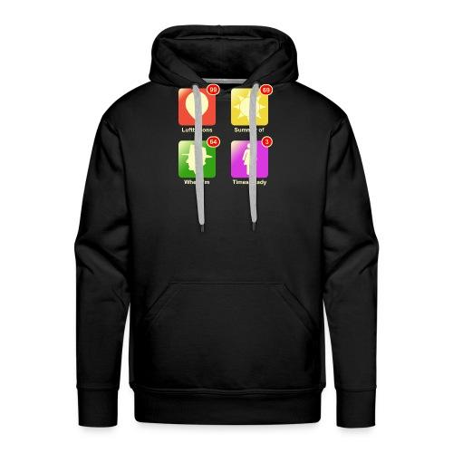 Muziek apps - Mannen Premium hoodie