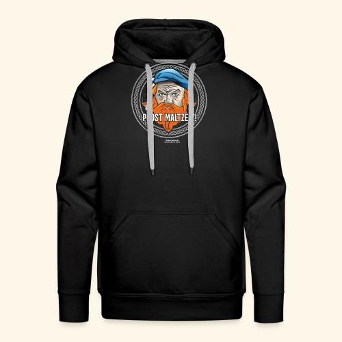 Whisky T Shirt Design Prost Maltzeit - Männer Premium Hoodie