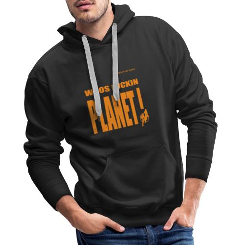 Orange Original PLanet Shirt - Men's Premium Hoodie