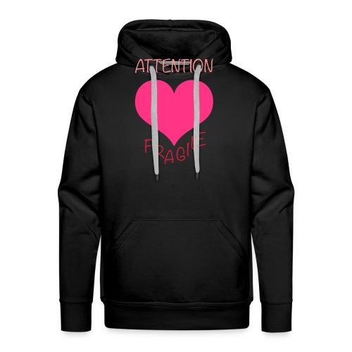 coeur fragile - Sweat-shirt à capuche Premium pour hommes