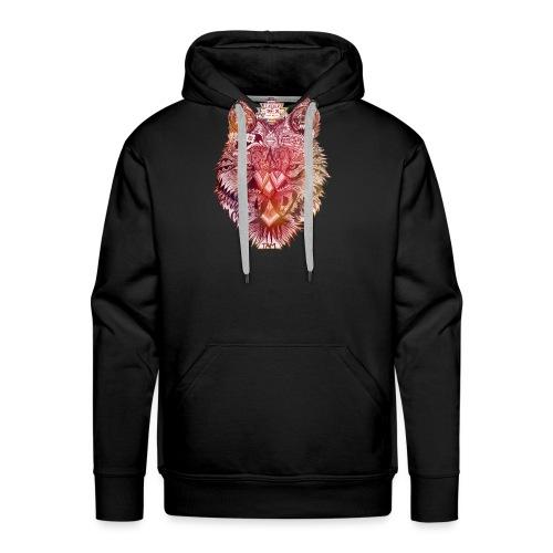 loup navajo ocre - Sweat-shirt à capuche Premium pour hommes