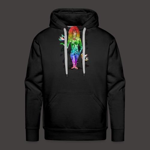vierge multi-color - Sweat-shirt à capuche Premium pour hommes