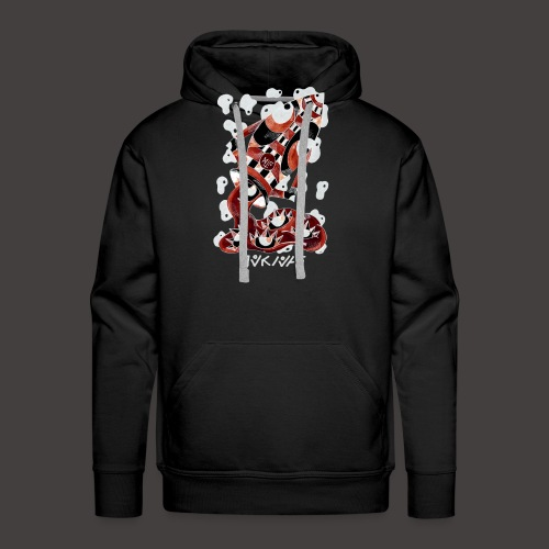 Verseau Négutif - Sweat-shirt à capuche Premium pour hommes
