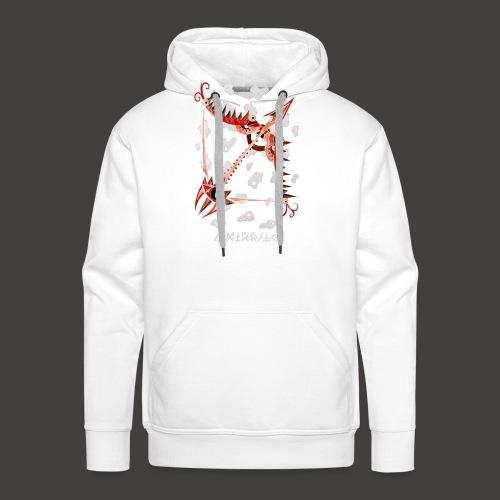 Sagittaire Négutif - Sweat-shirt à capuche Premium pour hommes