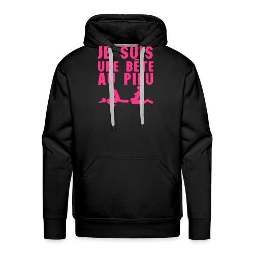 je suis une bete au pieu citation sexe 2 - Sweat-shirt à capuche Premium pour hommes