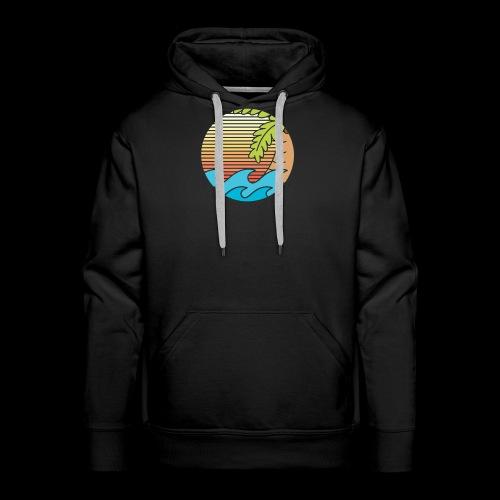 mar caribe - Sudadera con capucha premium para hombre