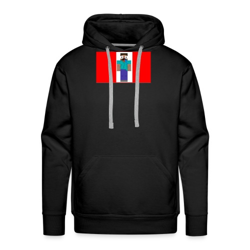 mine craft derp skin t shirt - Men's Premium Hoodie