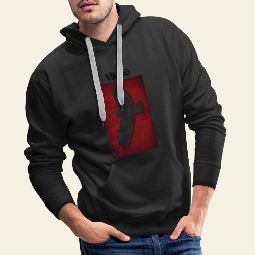 ravneflaget viking - Herre Premium hættetrøje