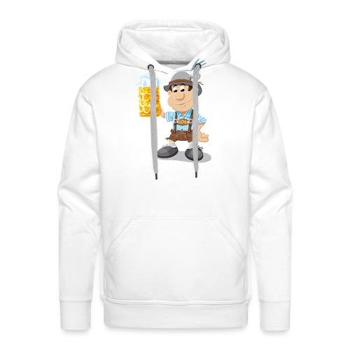 Bier Maßkrug Lederhosen Cartoon Man - Männer Premium Hoodie