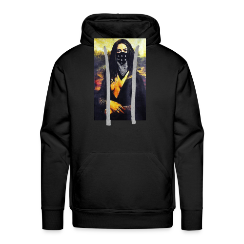 Mona Lisa Gangsta - Bluza męska Premium z kapturem