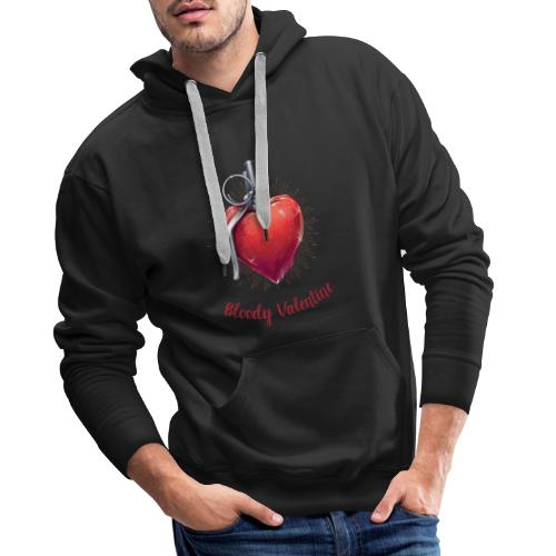 Bloody Valentine Design - Valentinstag Geschenk - Männer Premium Hoodie
