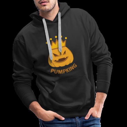 Kürbis König   Kürbisgesicht Krone Halloween - Männer Premium Hoodie