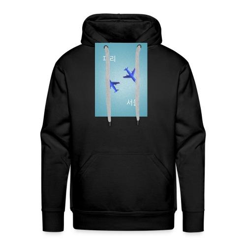 Paris Seoul - Sweat-shirt à capuche Premium pour hommes