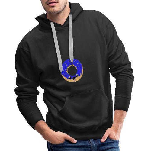 donut22blue - Sweat-shirt à capuche Premium pour hommes