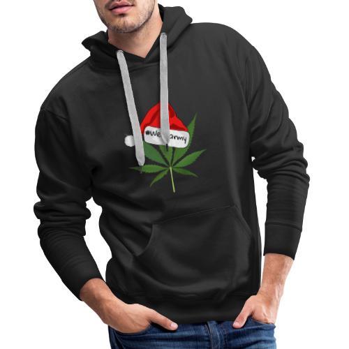Weedarmy Weihnachtshanf - Männer Premium Hoodie