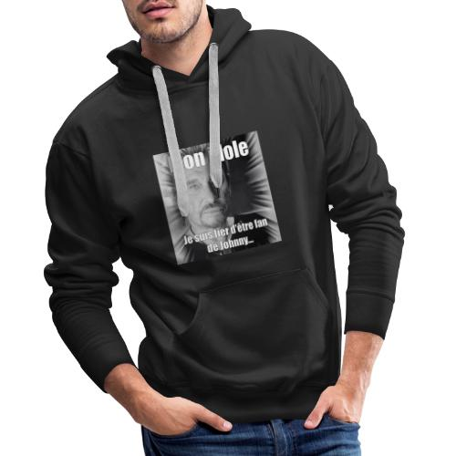 Mon idole Johnny Hallyday - Sweat-shirt à capuche Premium pour hommes