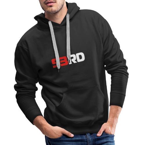 53RD Logo lang (weiss-rot) - Männer Premium Hoodie