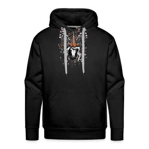 Deer Unicorn Flowers - Men's Premium Hoodie