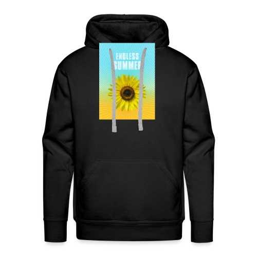 sunflower endless summer Sonnenblume Sommer - Men's Premium Hoodie