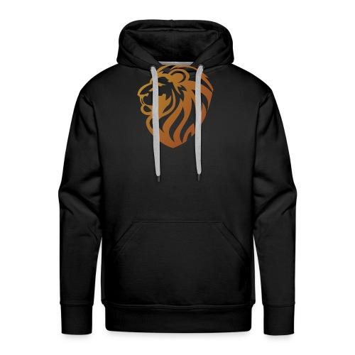 Bronze lion - Sweat-shirt à capuche Premium pour hommes