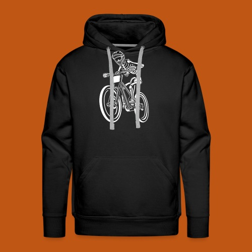 BMX / Mountain Biker 04_weiß - Männer Premium Hoodie