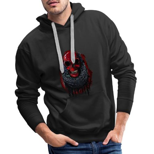 Red Skull in Chains - Men's Premium Hoodie