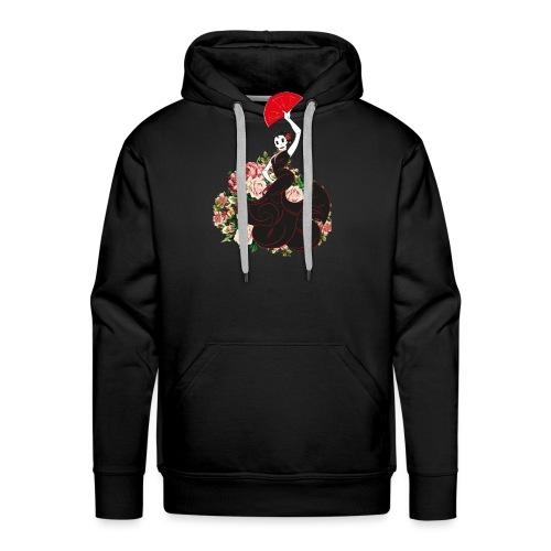 flamenca flor - Sudadera con capucha premium para hombre