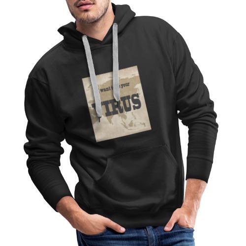 VIRUS - Sudadera con capucha premium para hombre