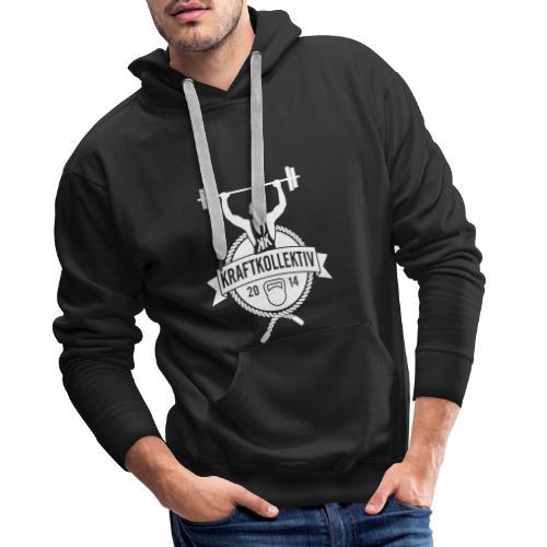 Kraftkollektiv_Logo_clean_white - Männer Premium Hoodie