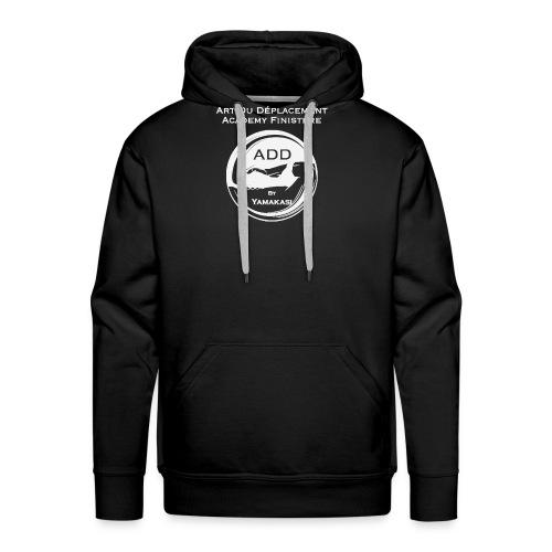 Logo grand DOS Blanc - Sweat-shirt à capuche Premium pour hommes